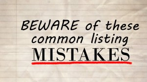 Common listing mistakes by home sellers