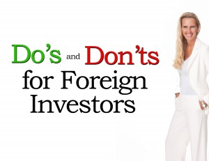 Do's and Don'ts of Foreign Investors